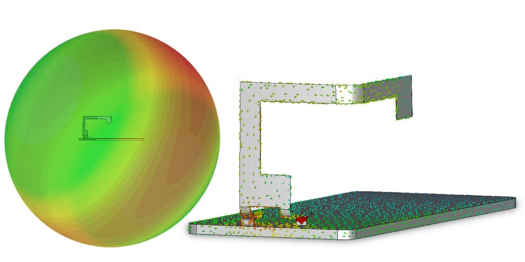 (Optimised CST Electromagnetic field and current models)